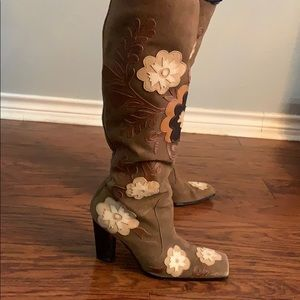 Nine West Shoes - Nine West Knee High Boots with Flowers